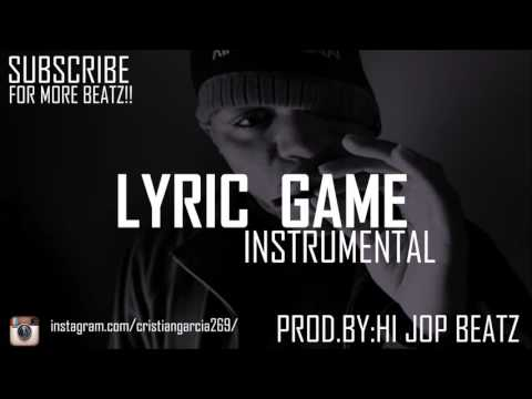 "Hip Hop Instrumental Method Man Type  ""Lyric Game"" - Base de Rap Flow 2016"