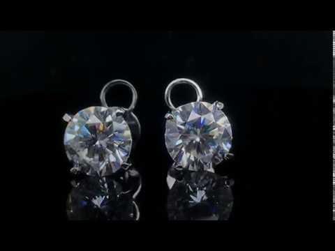 DovEggs Moissanite Stud Earrings For Girls Women