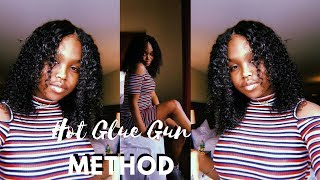 HOW TO: LACE CLOSURE WIG (HOT GLUE GUN METHOD) ft. Unice Hair