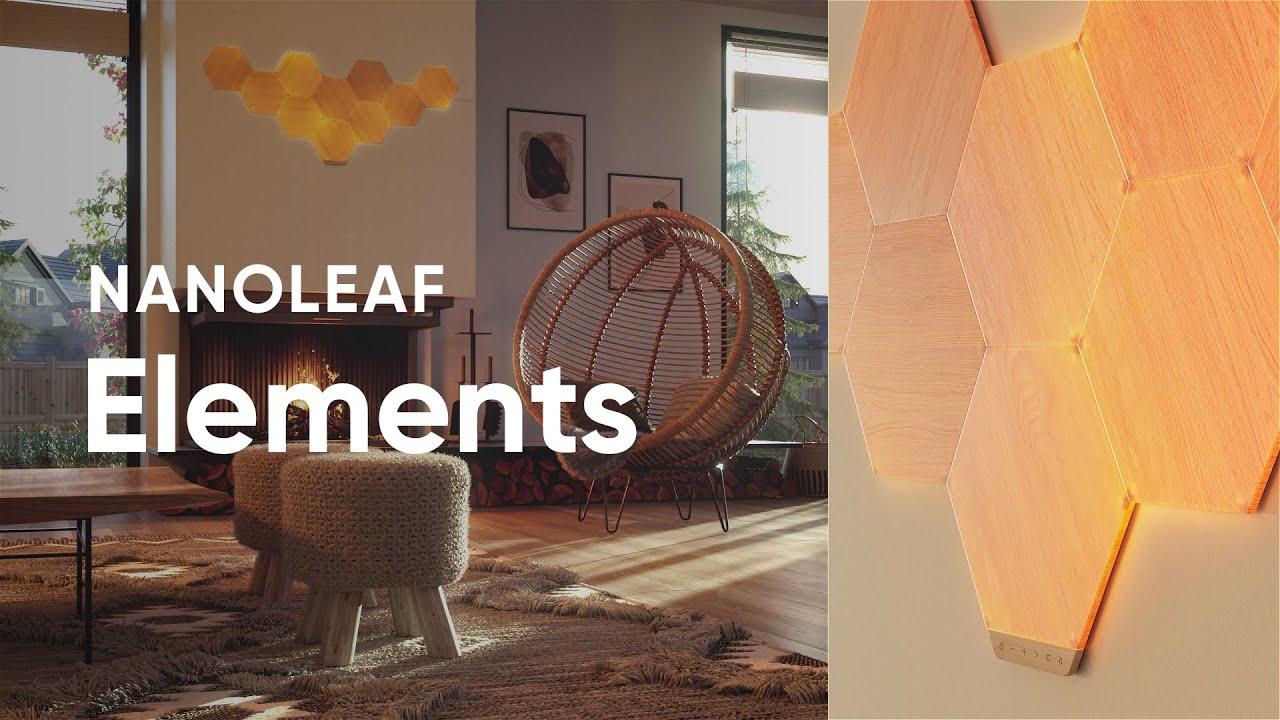 Nanoleaf Elements Wood Look Smarter Kit // 7 Panels video thumbnail