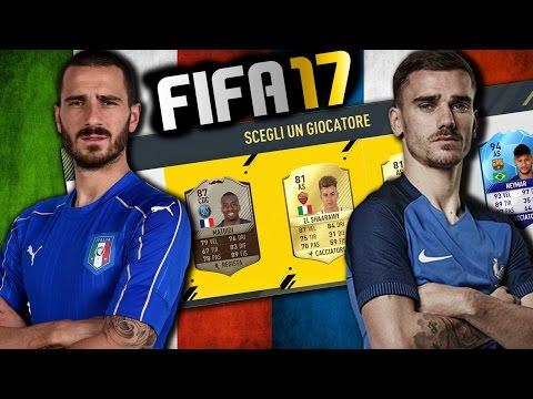 CHALLENGE ITALIA vs FRANCIA !!! FIFA 17 FUT DRAFT
