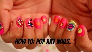 Nail Tutorial: Pop Art Manicure Using Sally Hansen and Kiss Products.