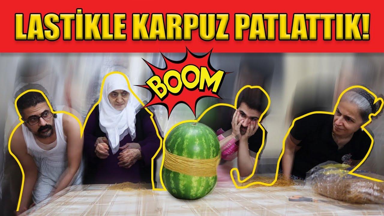 LASTİKLE KARPUZ PATLATMAYI DENEDİK!