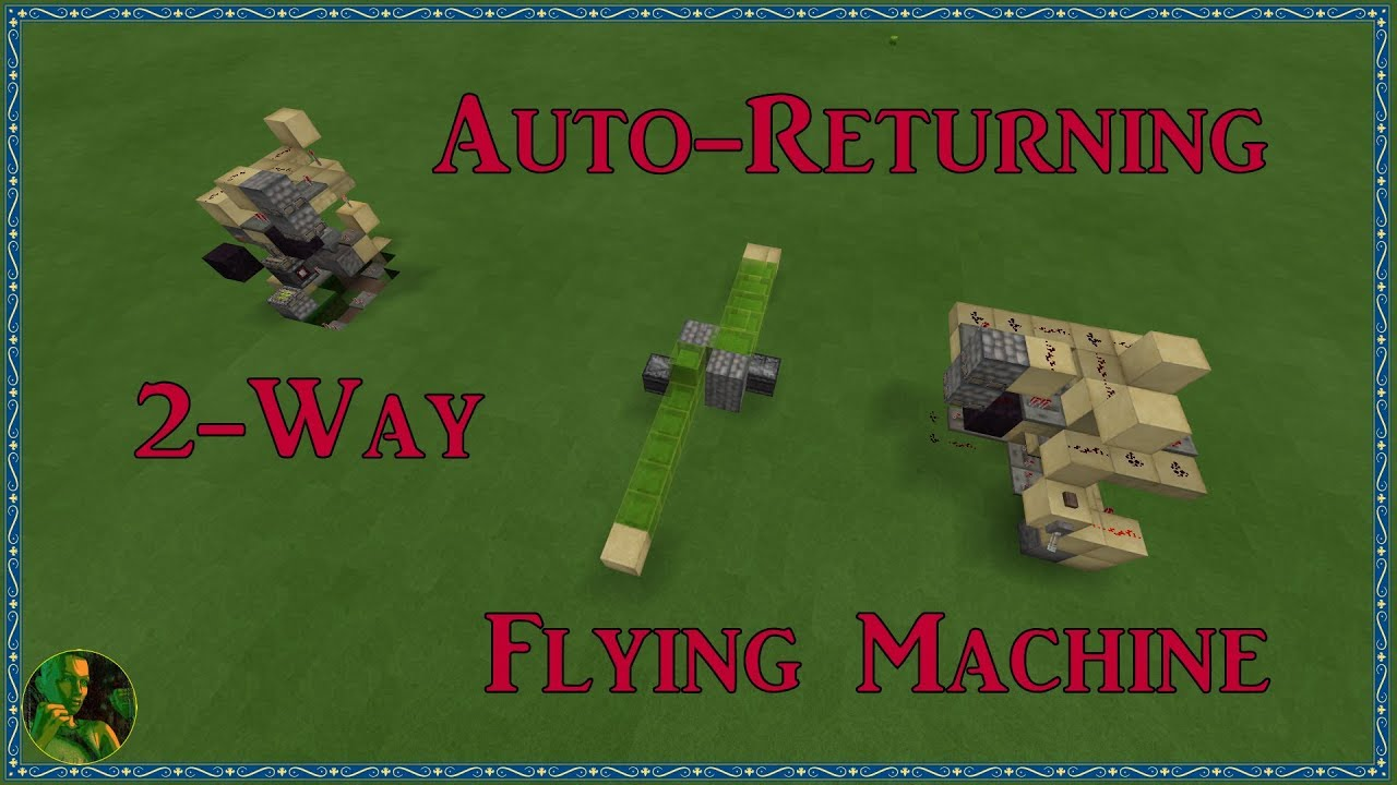 Slime Block Piston Flying Machine for Minecraft Bedrock