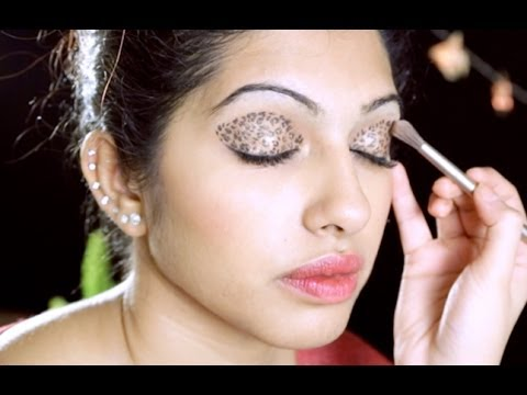 TAMIL How To Do Leopard Eyeshadow Makeup - YouTube