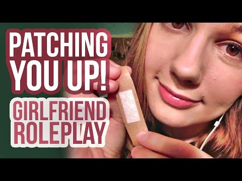 ASMR Patching You Up! Girlfriend Roleplay | Personal Attention | Hair Brushing | For All Genders