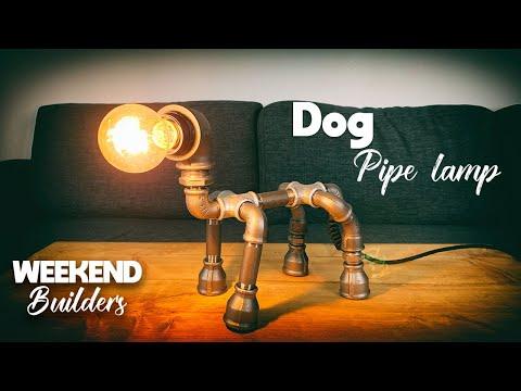 DIY Dog Pipe Lamp, really easy to make!