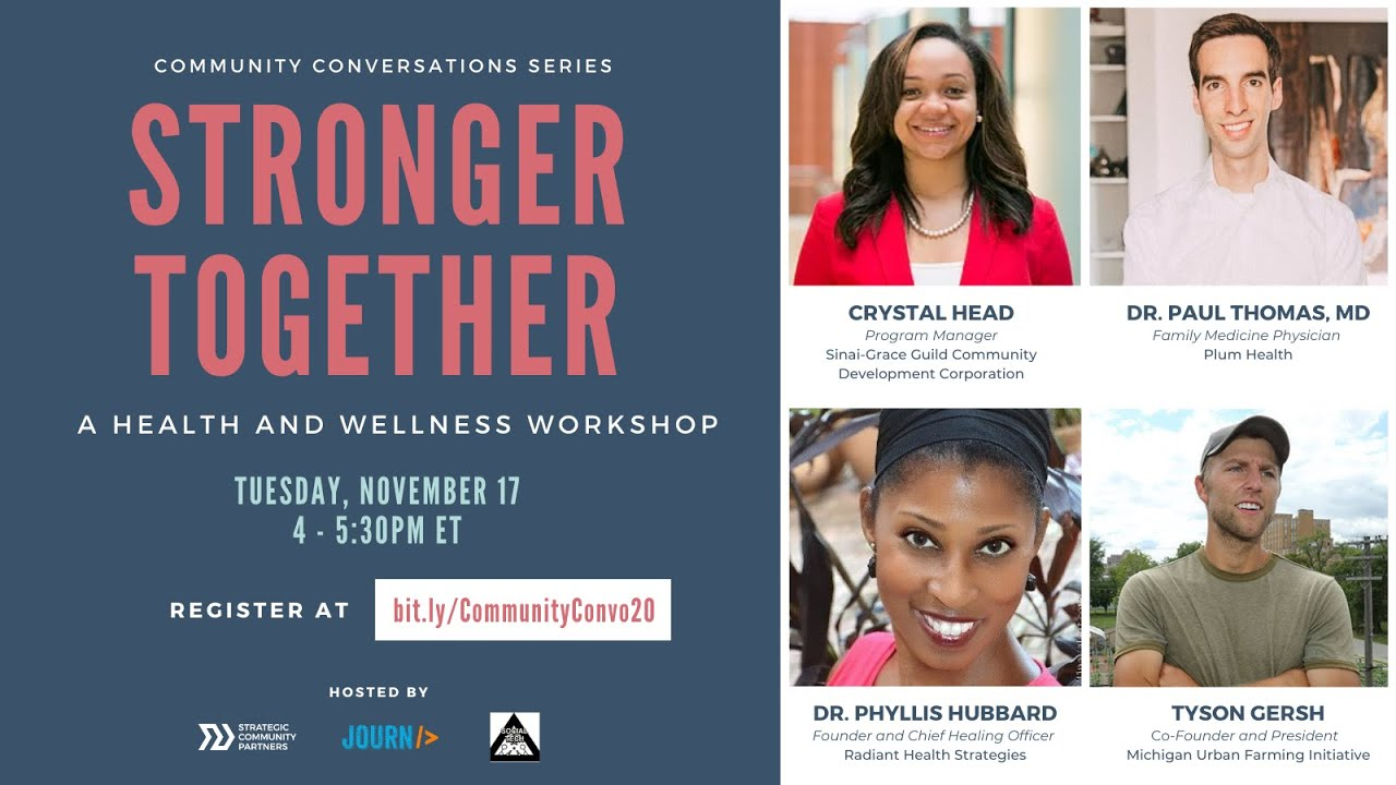 Community Conversations - Stronger Together: A Health and Wellness Workshop