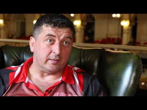 MEET THE PLAYER! Mensur Suljovic talks about his life in the war, buying a pub and playing darts