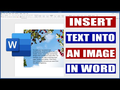 In Microsoft Word how to put text over a picture ¦ Put text on an image in word.