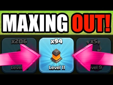 Clash Of Clans - UPGRADES!! - ROAD TO LEVEL 12 WALLS!