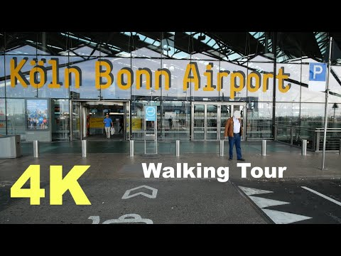 Cologne Bonn CGN Airport Walk In UHD 4K
