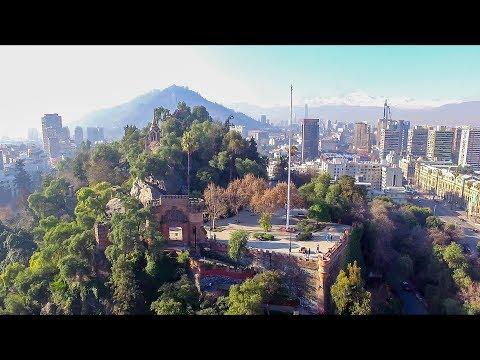 I GOT THE DRONE SHOTS! - Cerro Santa Lucia, Santiago, Chile