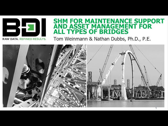 SHM for Maintenance Support and Asset Management for All Types of Bridges