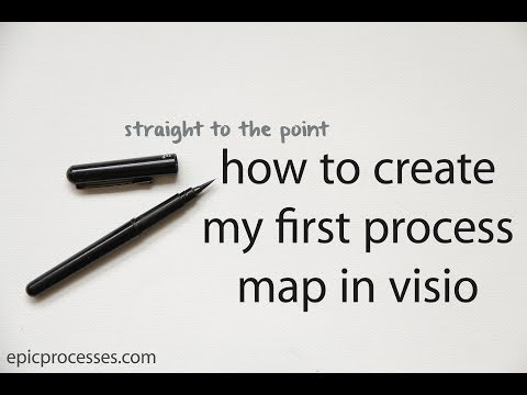 straight to the point: how to create my first process map in visio