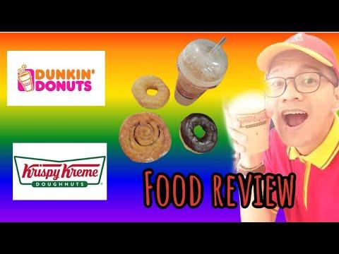 Food review part2 #DUNKIN DONUTS & # KRISPY KREME
