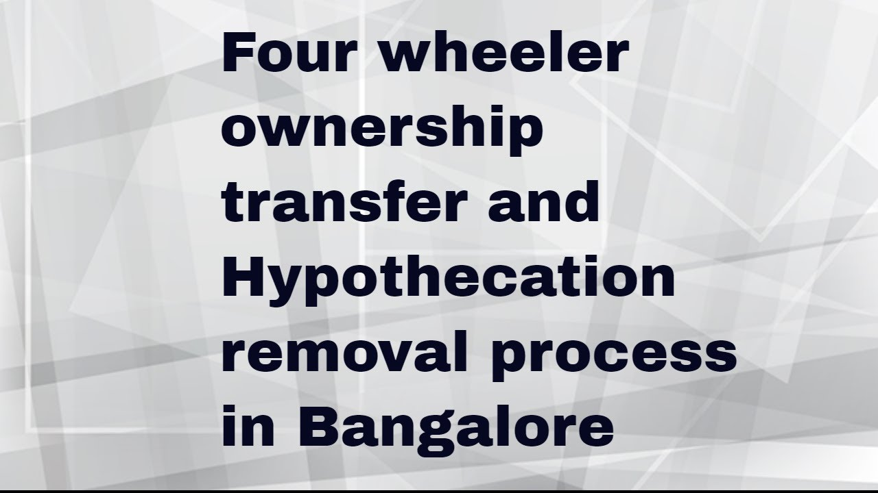Two wheeler ownership transfer charges in bangalore dating