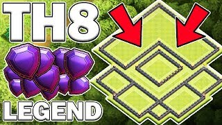 TH8 LEGEND PUSH BASE WITH TROLL LAYOUT - Clash of Clans