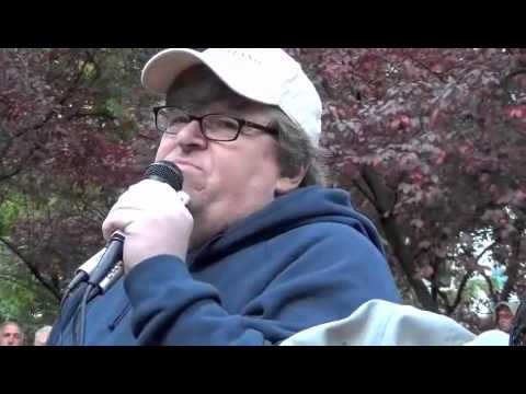 Michael Moore Refuses to Answer Questions Regarding His $50 Million Net Worth at Occupy Portland