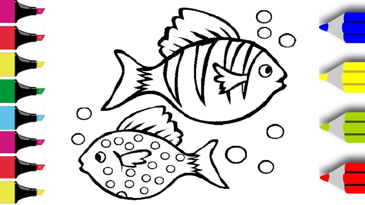 Colouring Fish Colouring For Kids Colouring Pages Balik Boyama