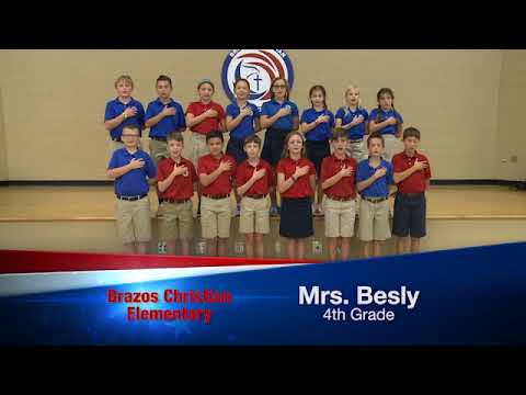 Daily Pledge-Brazos Christian School-Mrs. Besly