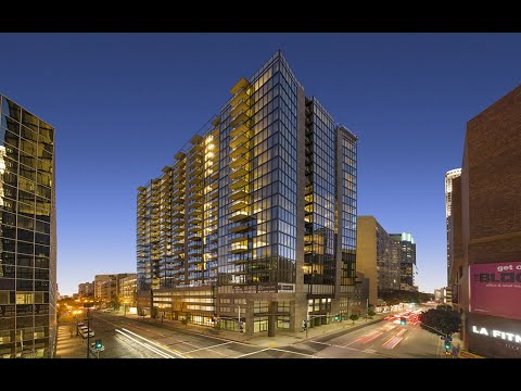 An Aerial View Of Downtown Los Angeles High Rise Apartments 8th Hope And