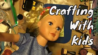 Crafting With Kids ~ Making Tags with Sadie & Z ~ DancesWithPitBulls ~