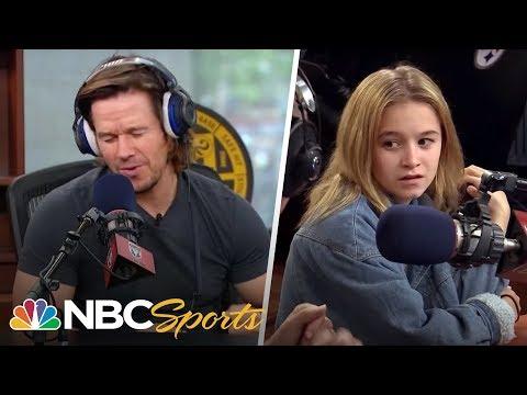 Mark Wahlberg raps in front of teenage daughter