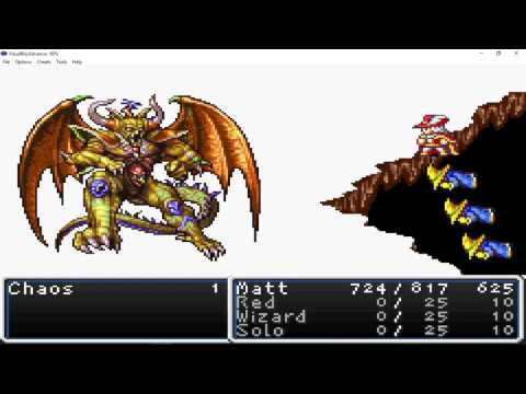 GBA Final Fantasy 1 Red Mage Solo Chaos Lvl 57