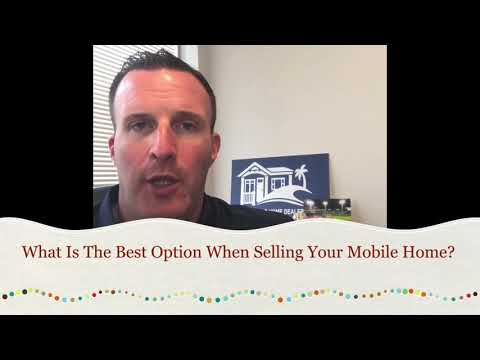 What Is The Best Option To Sell Your Mobile Home?