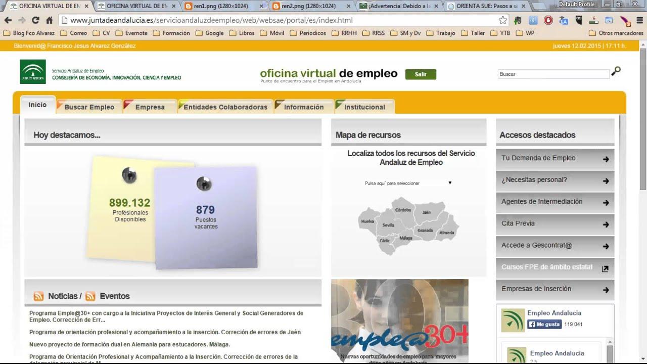 Renovar Demanda Empleo En Andalucía Youtube