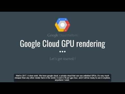 GPU cloud render farm video tutorials