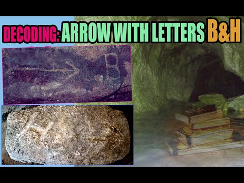 DECODING ARROW WITH LETTER B AND H SIGNS FOR WW2 TREASURES