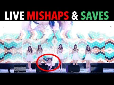 LIVE K-POP MISHAPS & SAVES!
