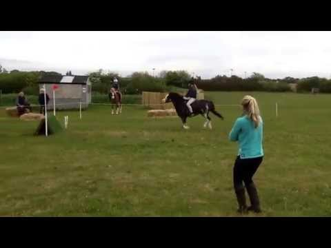 Ellie and Brandy arena eventing at Greasby