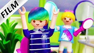 Playmobil Film deutsch | NEUE HAARFARBE für Papa Hannah färbt Haare Prank Kinderserie Familie Vogel
