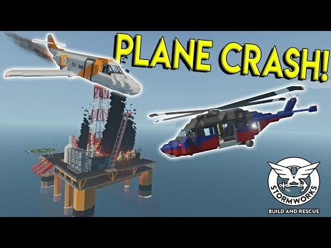 PLANE CRASH SURVIVAL & OIL RIG EXPLOSION! - Stormworks: Build and Rescue Update Gameplay