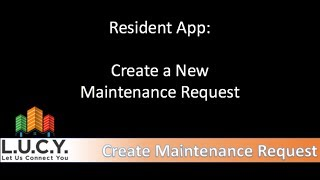 Resident - Create a New Maintenance Request