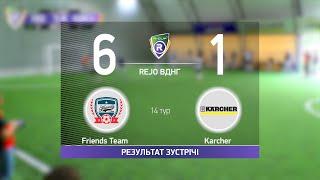 Обзор матча Friends Team 6 1 Karcher Турнир по мини футболу в городе Киев