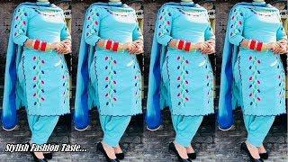 Punjabi suit design images | Patiala Salwar suit | Daily wear Salwar kameez | Boutique style suit