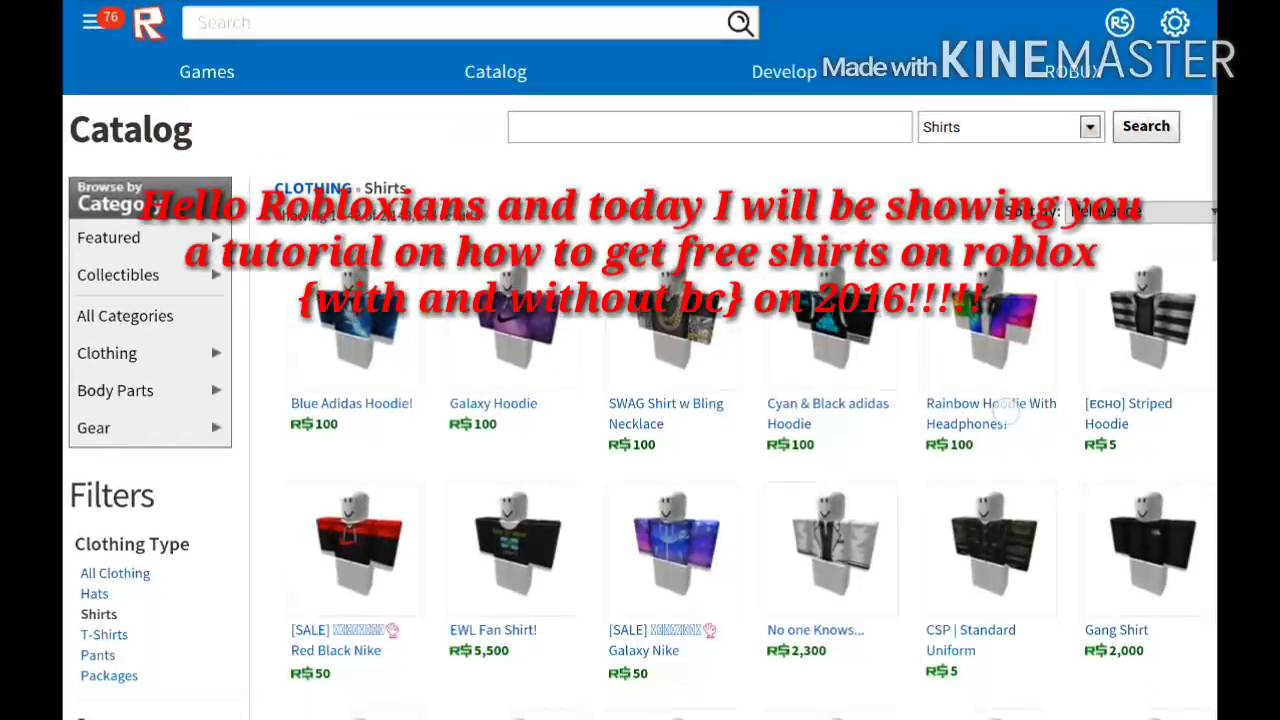 Roblox Tutorial How To Get Free Shirts On Roblox With Or Without