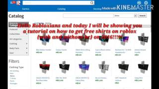 Roblox Tutorial: How to get free shirts on Roblox {With or without BC} Mobile or PC!