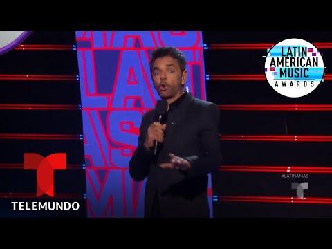 Eugenio Derbez se sale del libreto y defiende el reggaetón   Latin AMA's 2019