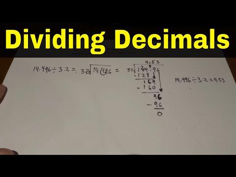 Dividing Decimals-Easy Math Lesson
