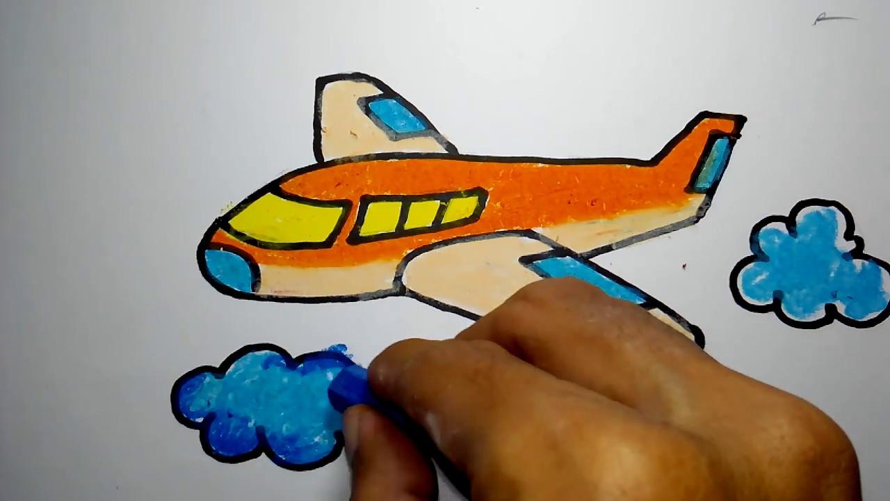 Cara Menggambar Kapal Terbang Youtube