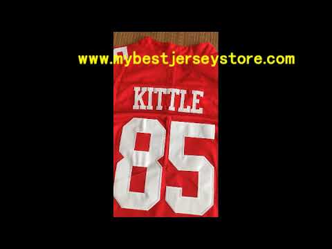 pick up 0a63e 10d18 Nike San Francisco 49ers 85 George Kittle Red 100th Anniversary Seasons  Jersey
