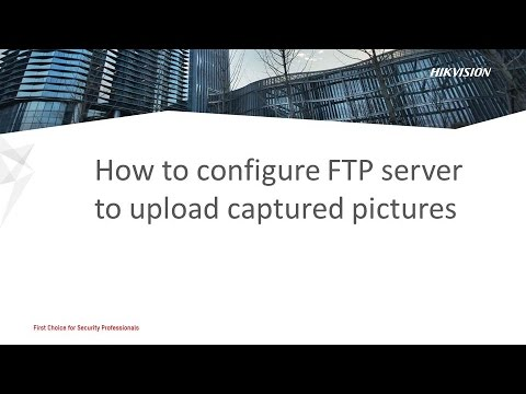 How to configure FTP server to upload captured pictures
