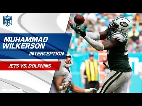 Muhammad Wilkerson's Tipped INT Sets Up Josh McCown's TD Sneak! | Jets vs. Dolphins | NFL Wk 7
