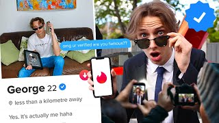 How I Got VERIFIED on Tinder and faked Being a CELEBRITY for a week!!