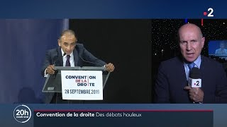 FRANCE 2 JT 20h - Convention de la Droite